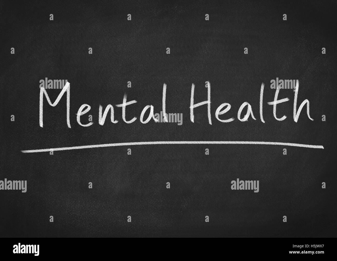 Psychische Gesundheit Stockbild