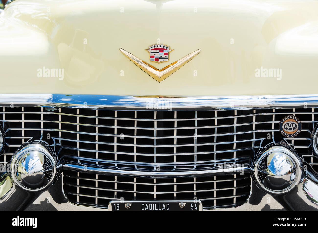 1954 Cadillac Eldorado Convertible Auto Detail Stockfoto Bild El Dorado
