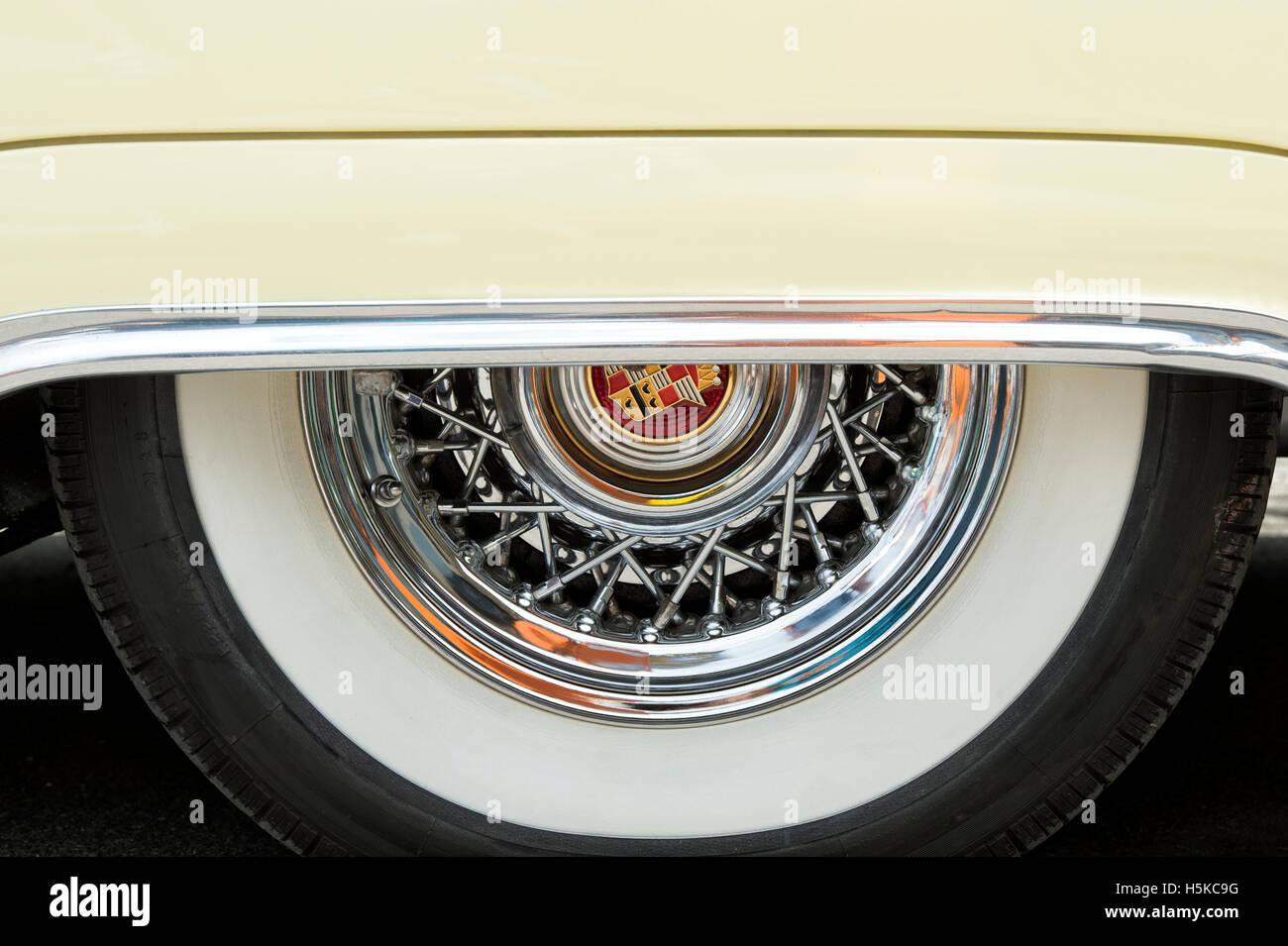 1954 Cadillac Eldorado Convertible Auto Rad Detail Stockfoto Bild El Dorado