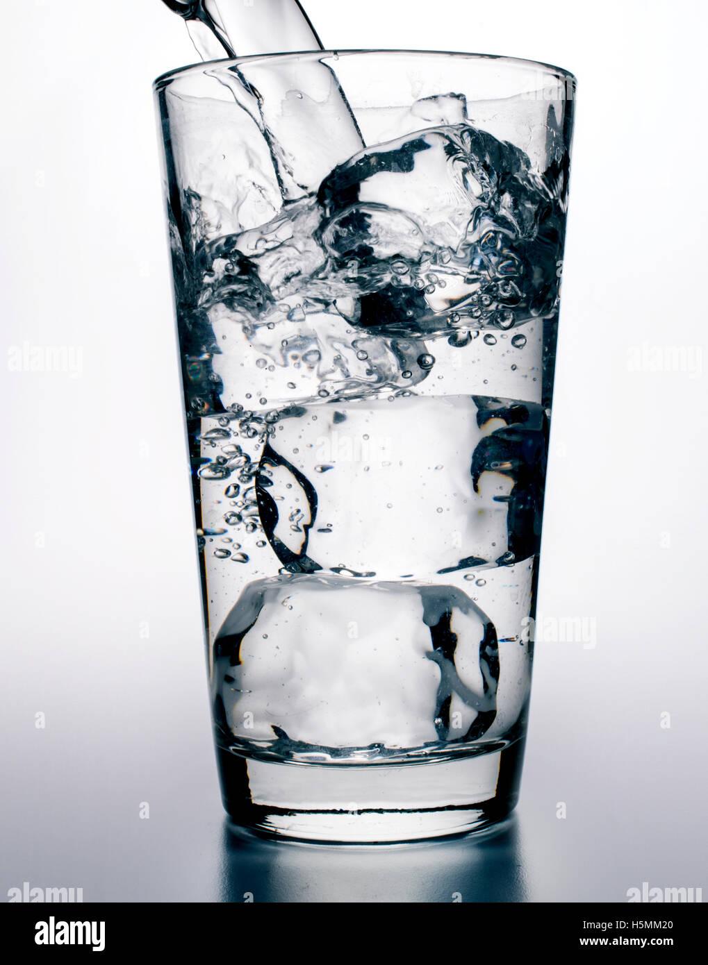 Eiswasser Stockbild
