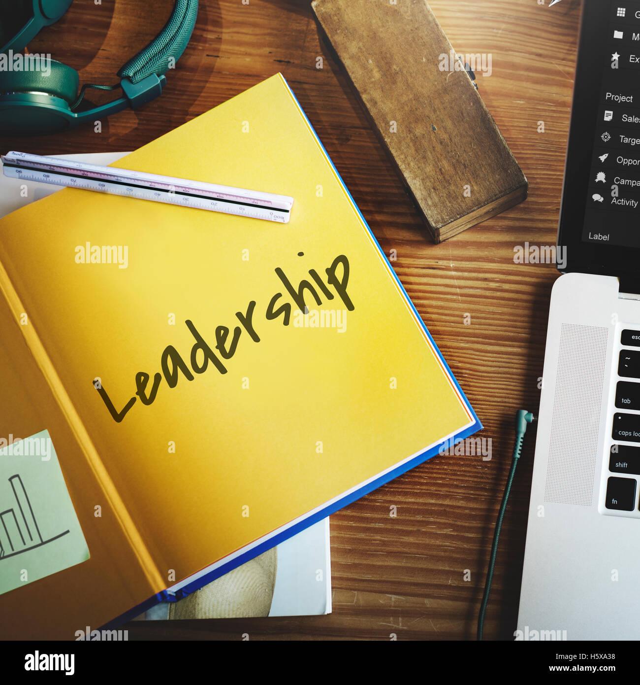 Führung unserer Mission Ideen-Konzept Stockbild