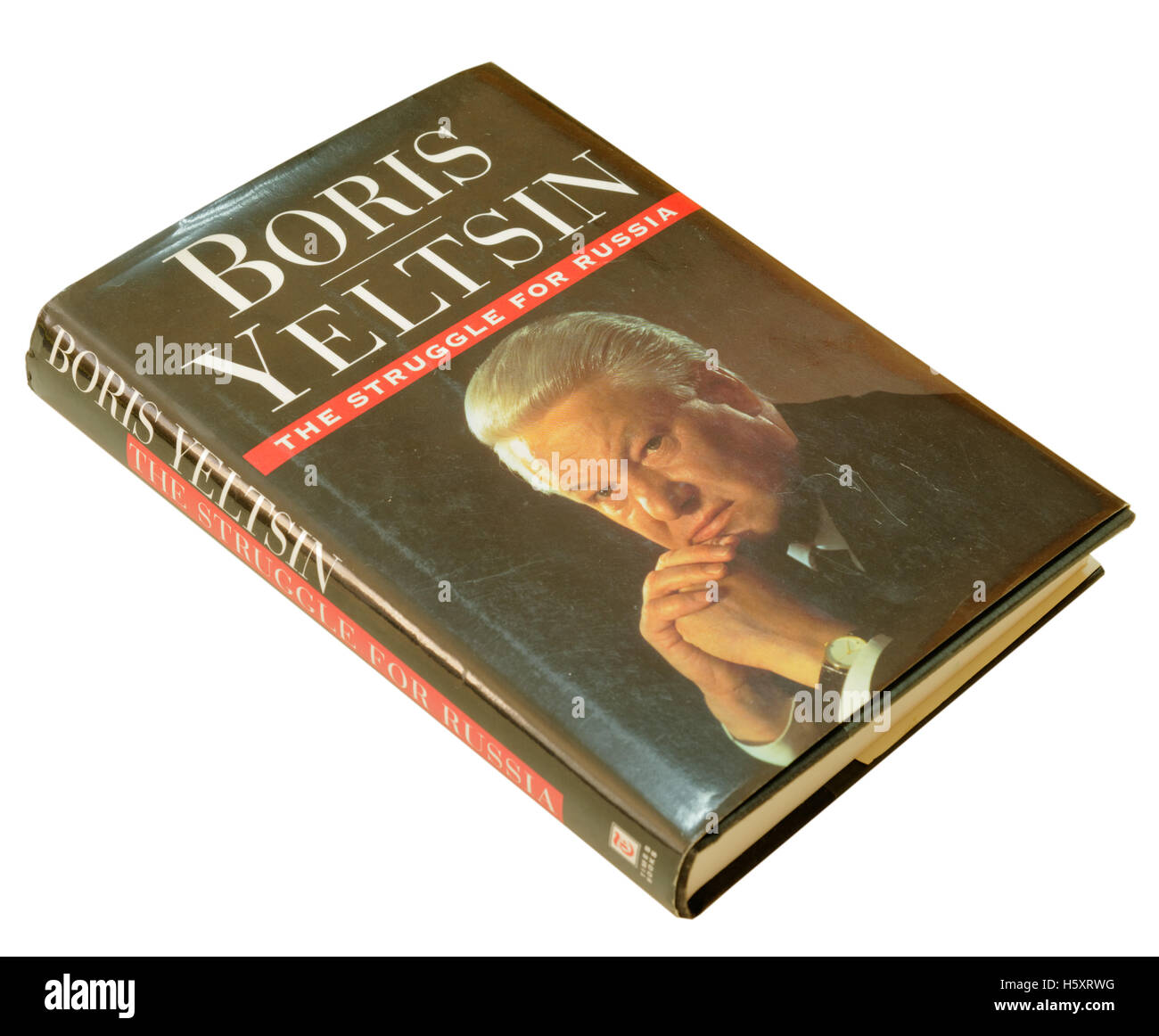 Der Kampf um Russland von Boris Jelzin Stockbild