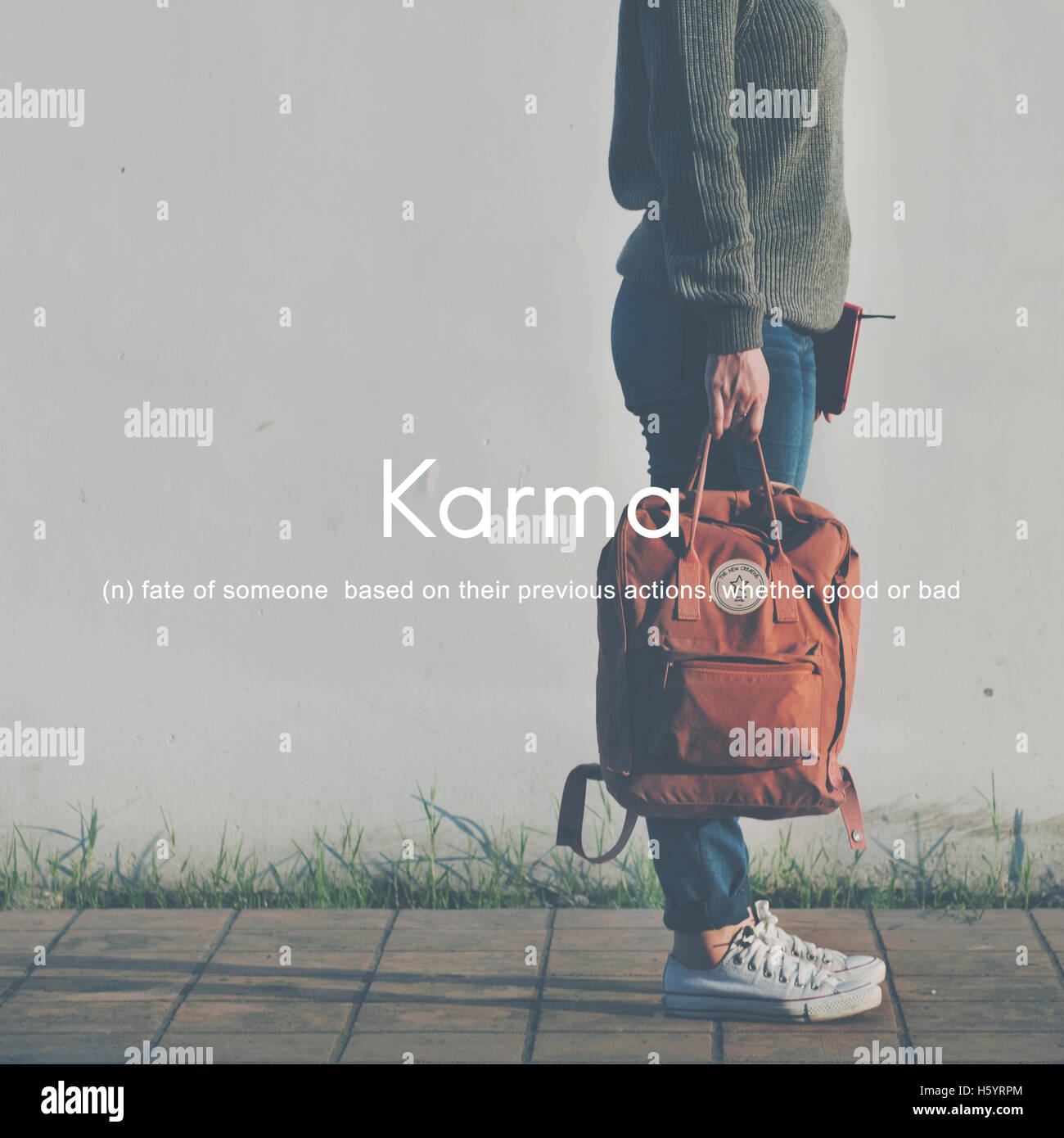 Karma Vorherbestimmung Positive Chance Konzept Stockfoto