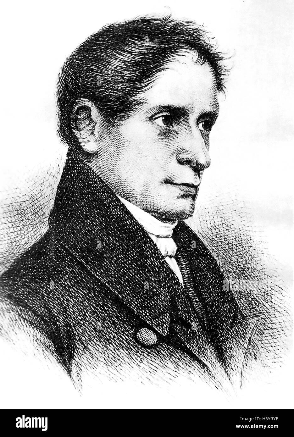 JOSEPH von EICHENDORFF (1788-1857) preußischen romantische Dramatiker, Schriftsteller und Literaturkritiker Stockbild
