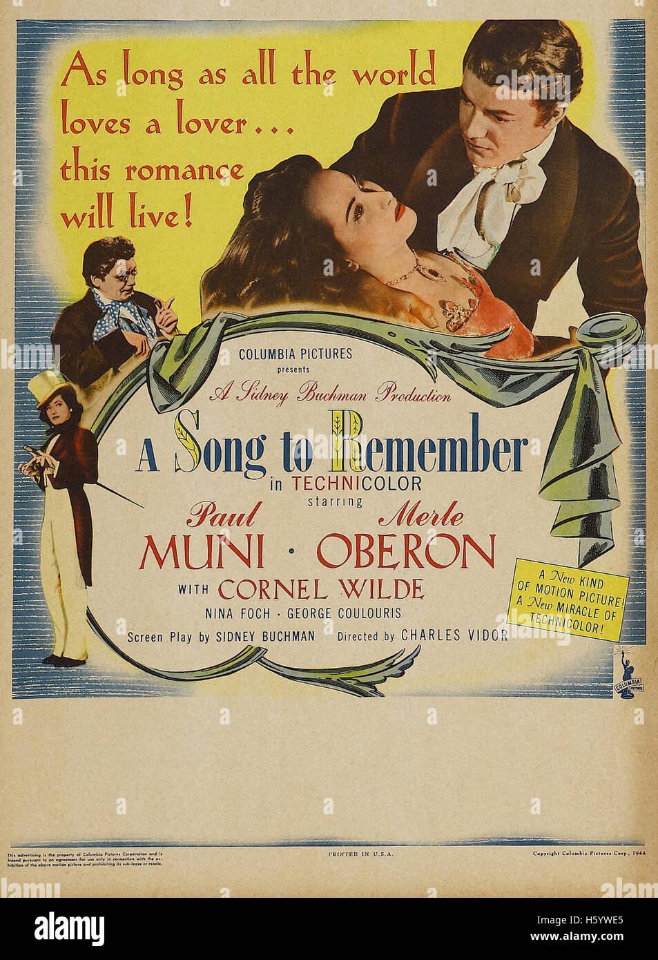 A Song to Remember - Filmplakat Stockbild