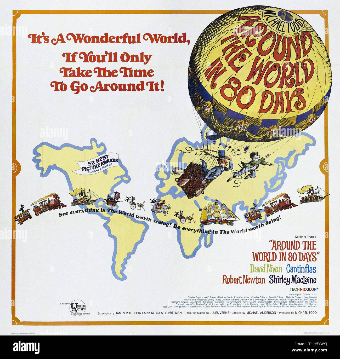 Around the World in 80 Days - Filmplakat Stockfoto, Bild: 124158934 ...