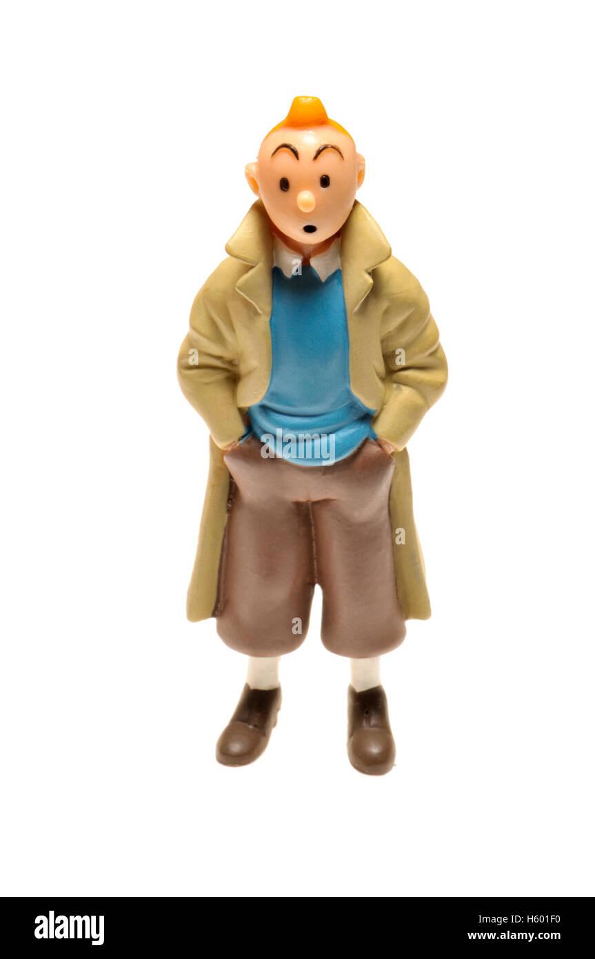 Cartoon-Figur-Figur - Tintin (Hergé) Stockbild