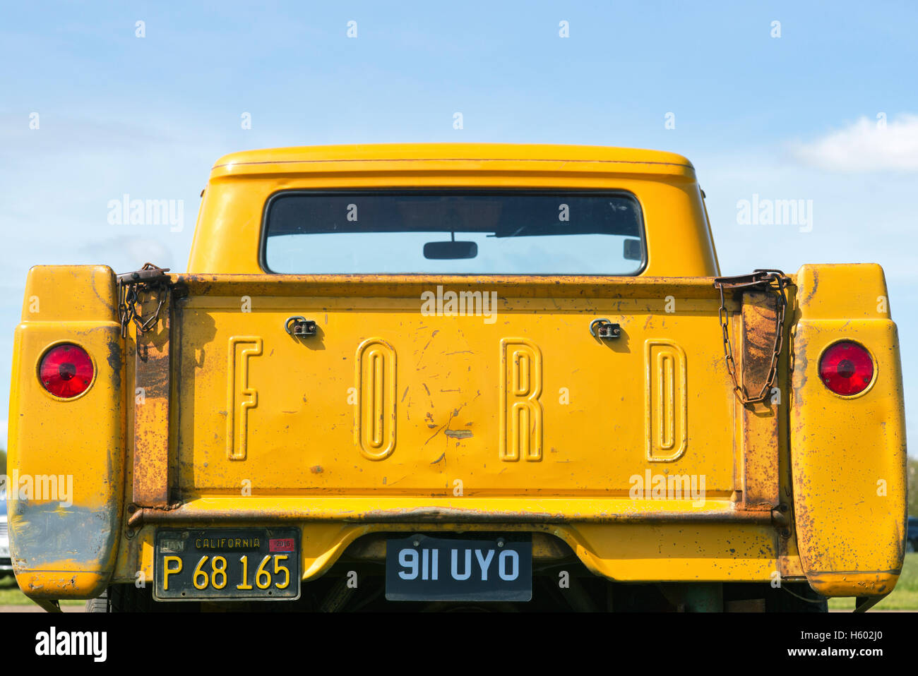 1957 Ford Pick-up LKW Heckklappe Stockbild
