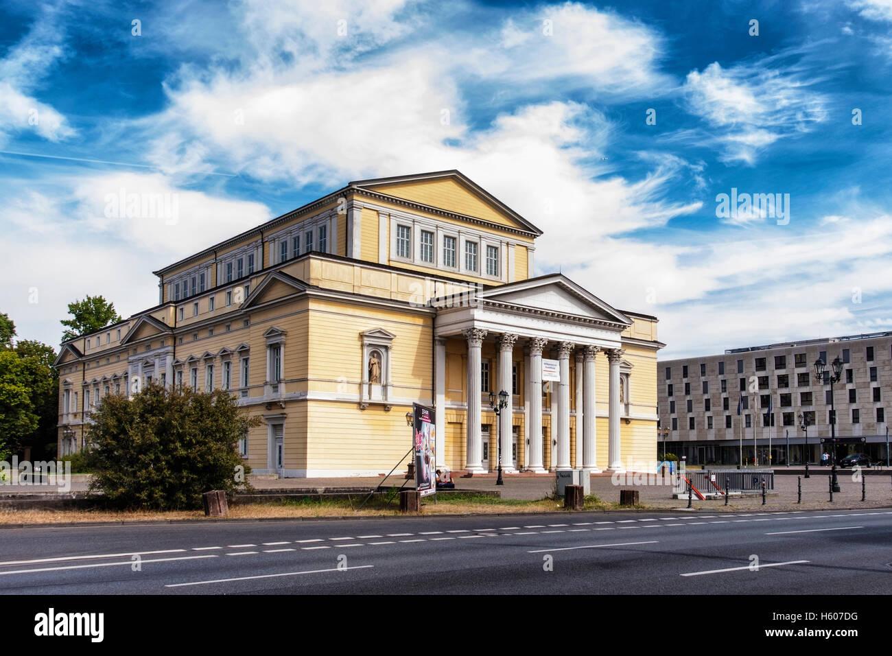 Darmstadt, Hessen, Deutschland.  Historisches Museum, Haus der Geschichte Gebäude außen Caroline Squaren Stockbild