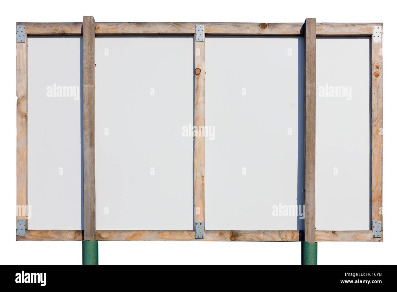 Rückseite Des Großen Ländlichen Plakatwand Banner Aus Weiß