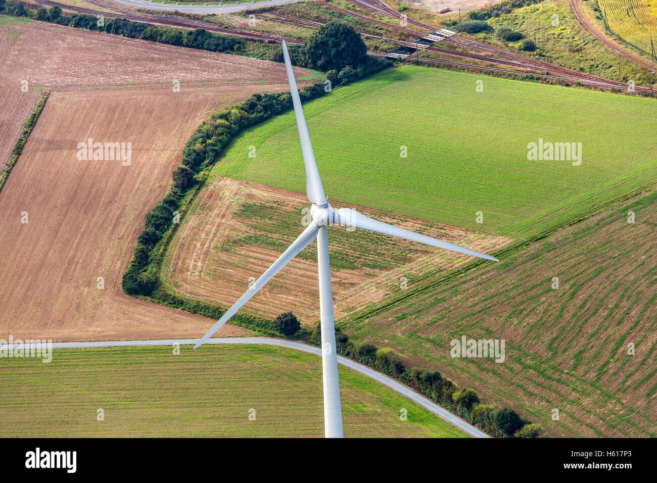 Windkraftanlagen, Windkraft, Windenergie, Stockbild