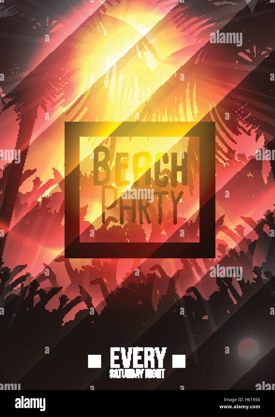 Summer Beach Party Flyer Template Stockfotos & Summer Beach Party ...