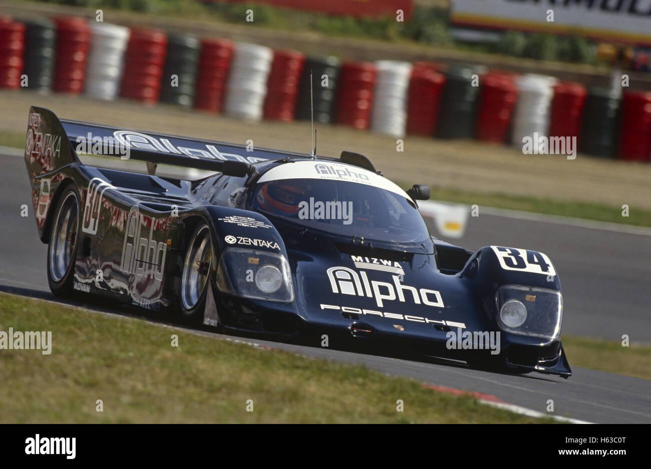 TIFF Needell und Derek Bell Porsche 962C von Equipe Almeras Fréres The Alpha Racing 1990 eingegeben Stockbild