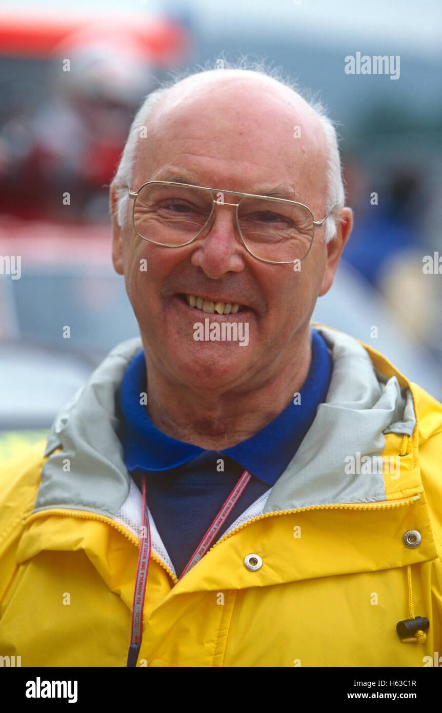 Murray Walker der 1990er Jahre Stockbild