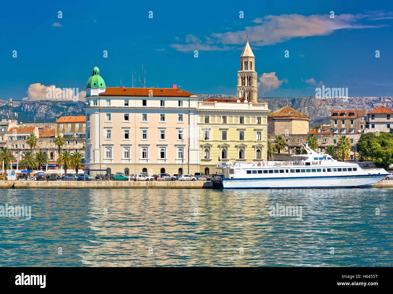 Stadt Split Architektur Blick, Dalmatien, Kroatien Stockbild