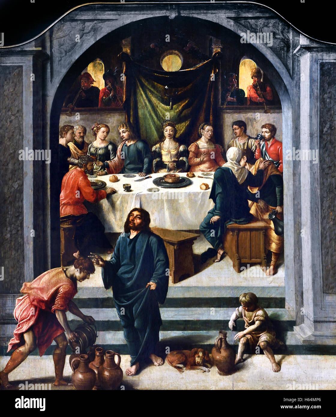 Die Hochzeit Zu Kana Von Jan Swart Van Groningen 1495 Groningen
