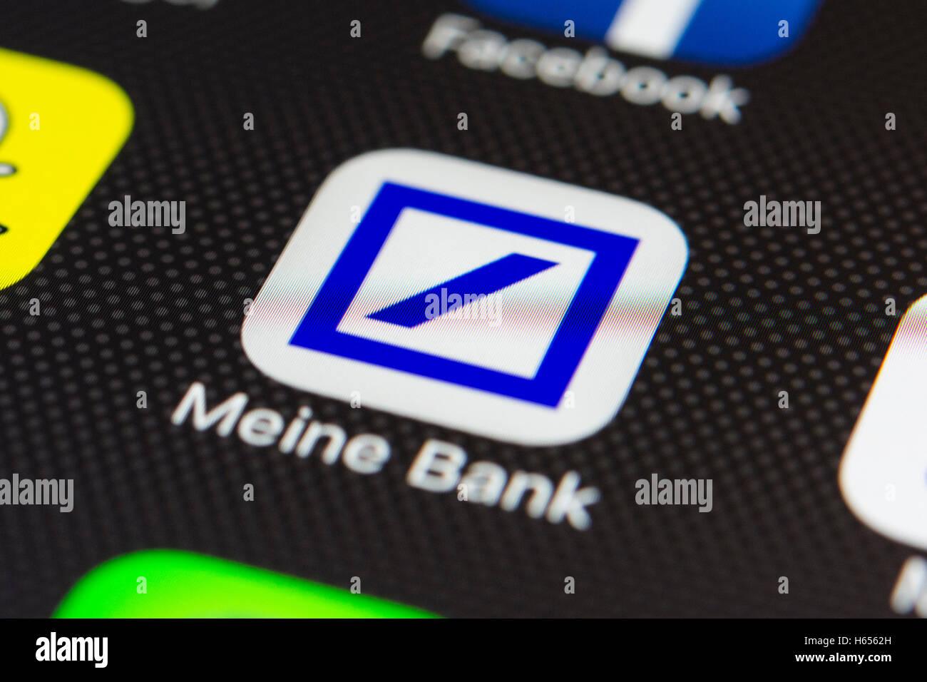 Deutsche Bank Online Banking App Auf Dem Iphone Smartphone