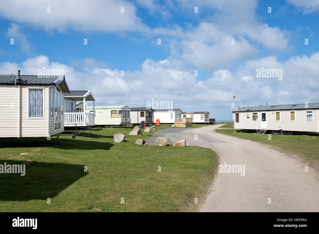 Mobilheim Mieten Cornwall : Mobilheime auf den dünenwanderungen sands caravan park auf einem