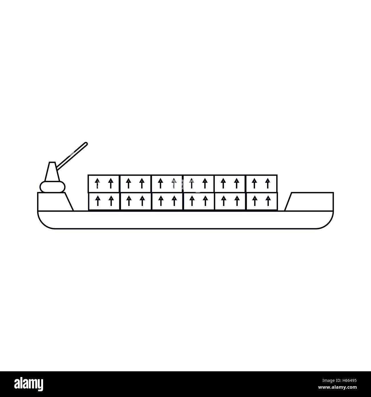 Cargo Vessel Thin Line Icon Stockfotos & Cargo Vessel Thin Line Icon ...