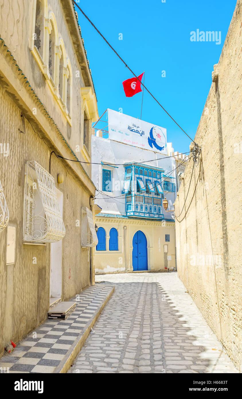 Es gibt eine Menge von mittelalterlichen Villen und Ferienhäuser in Medina Stockbild