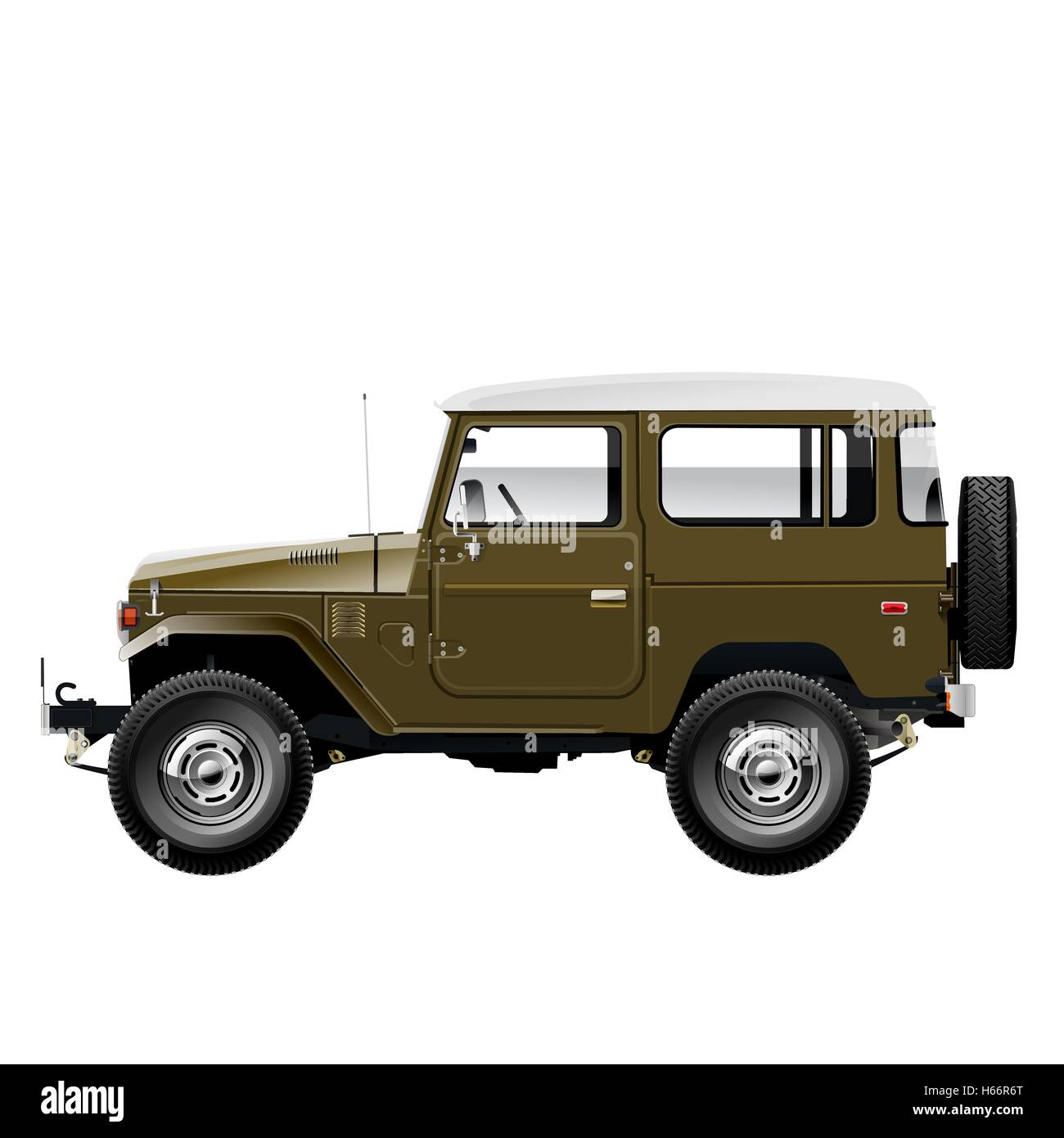 Vektor-Geländewagen-stehend Stock Vektor