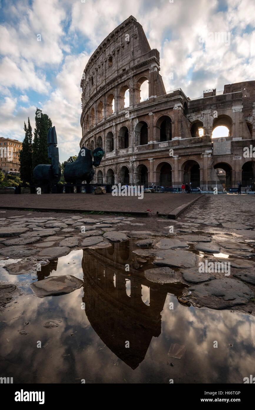 Kolosseum oder Kolosseum, Rom, Latium, Italien Stockbild