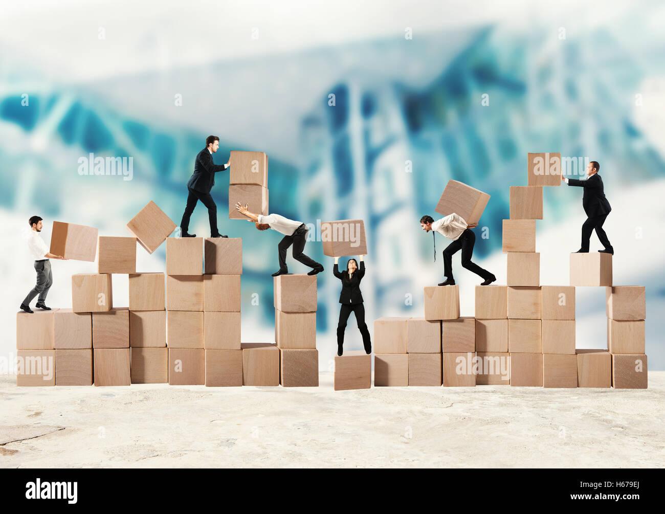 Team der Unternehmer bauen ein neues Unternehmen Stockbild
