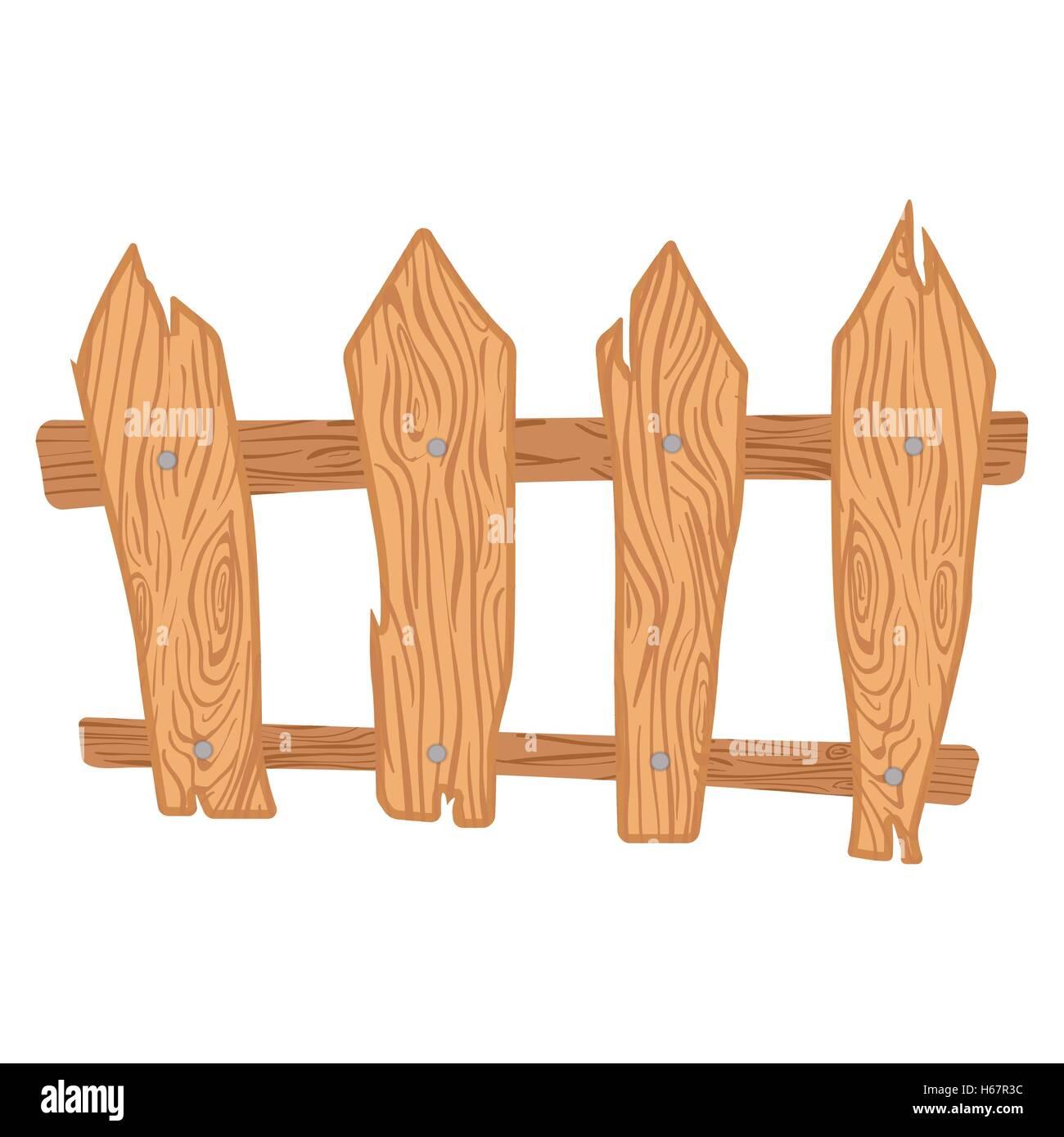 Zaun Aus Holz Cartoon Vektor Abbildung Bild 124332304 Alamy