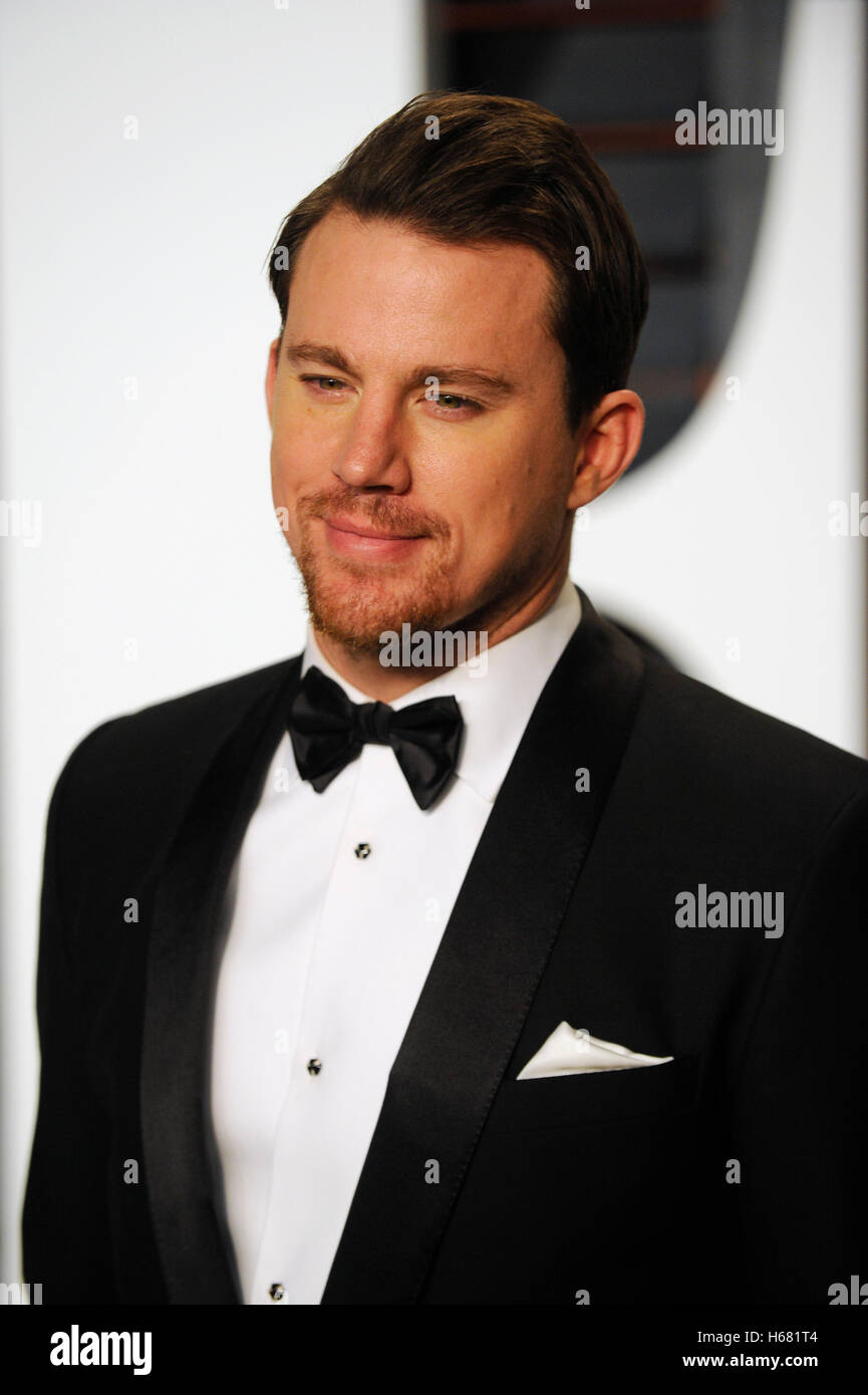 Channing Tatum besucht die 2015 Vanity Fair Oscar Party hosted by Graydon Carter im Wallis Annenberg Center für Stockbild