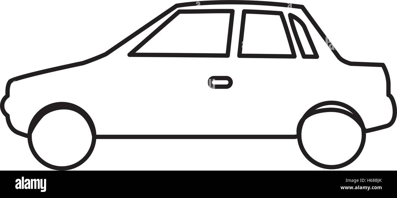 einfaches Auto Piktogramm Symbolbild Vektor Abbildung - Bild ...