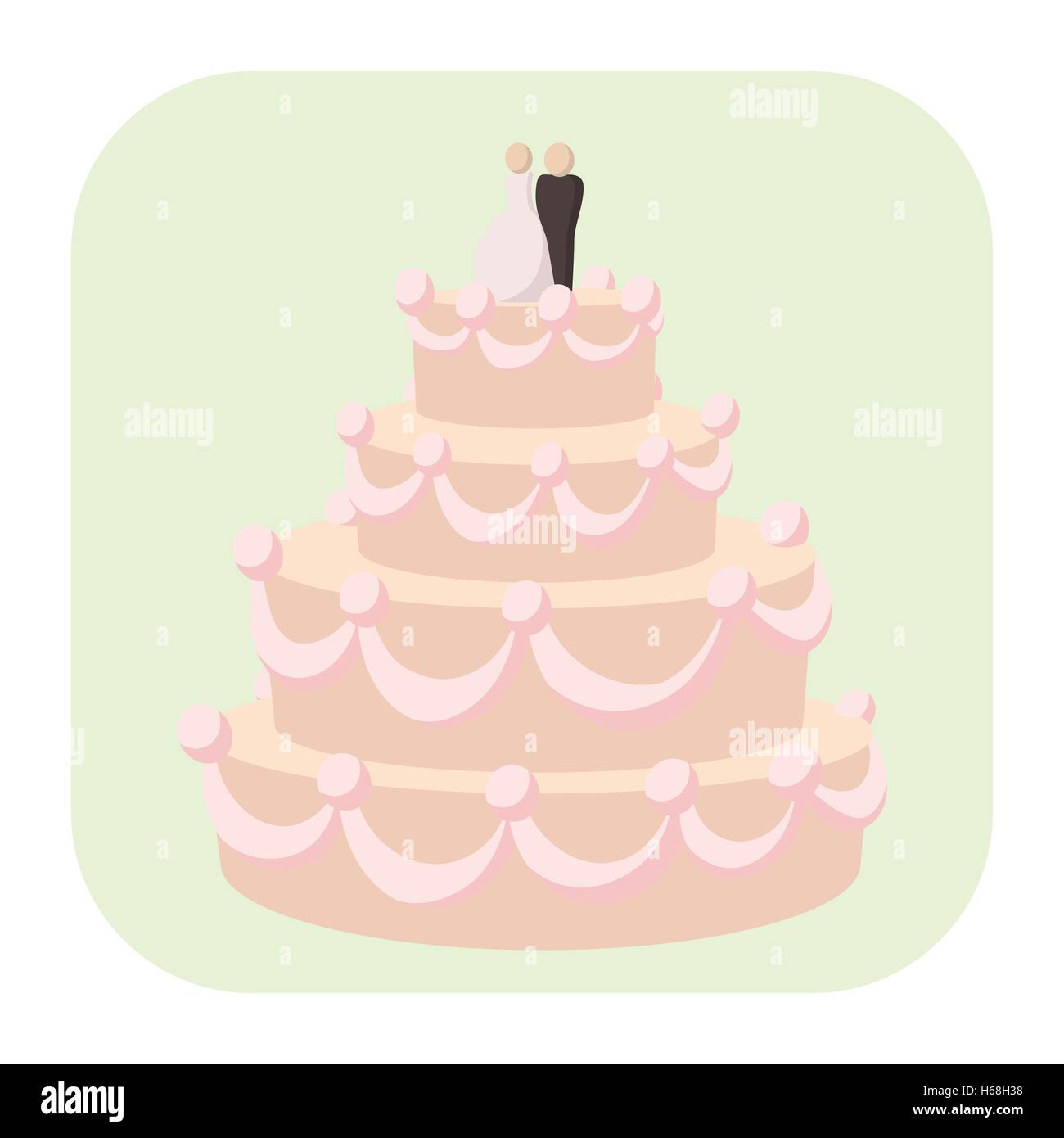 Hochzeitstorte Cartoon Symbol Vektor Abbildung Bild 124349548 Alamy