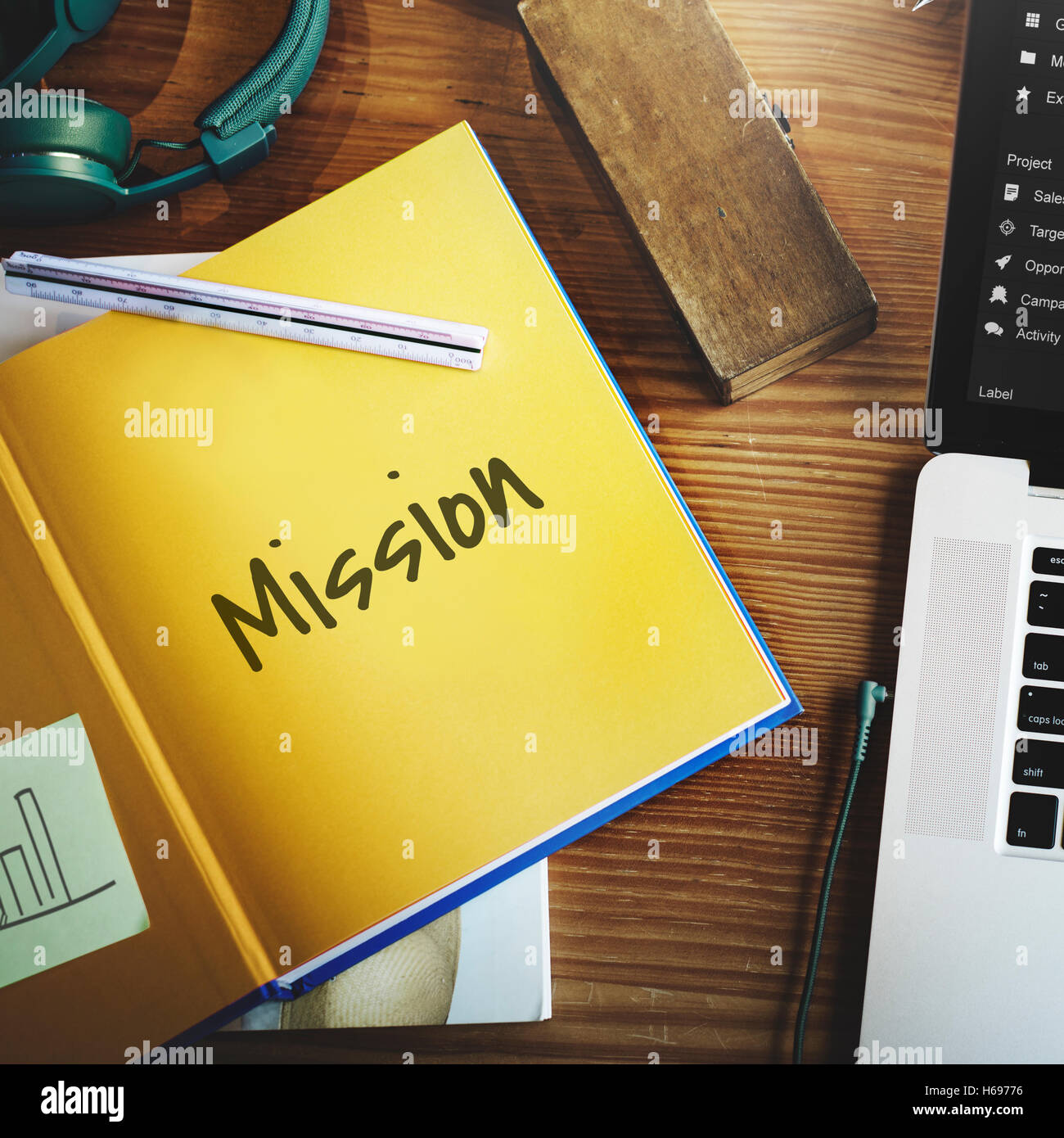 Unsere Mission Ideen-Leadership-Konzept Stockbild