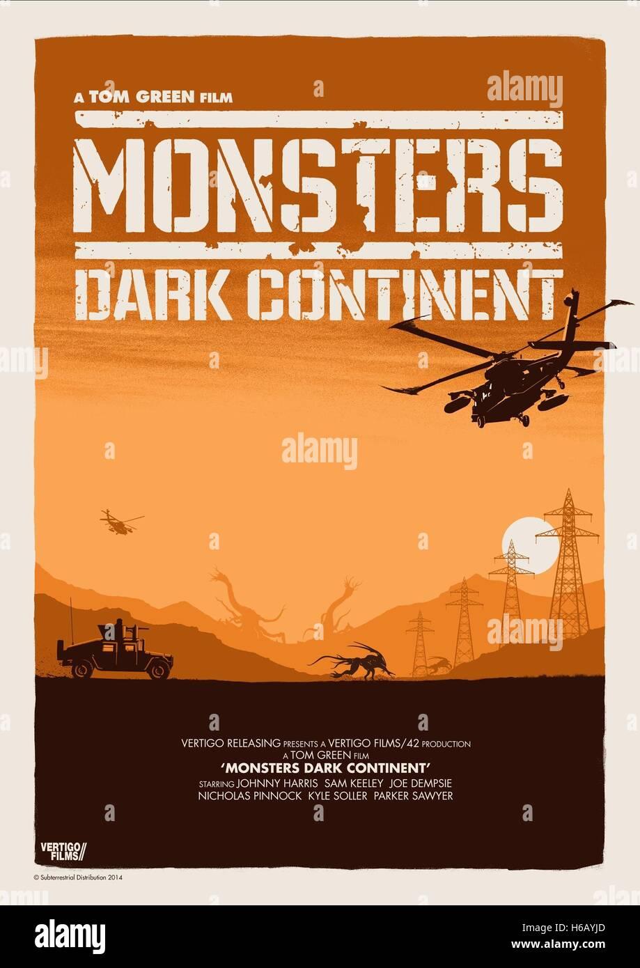 FILM-PLAKAT-MONSTER: DUNKLE KONTINENT (2014) Stockbild