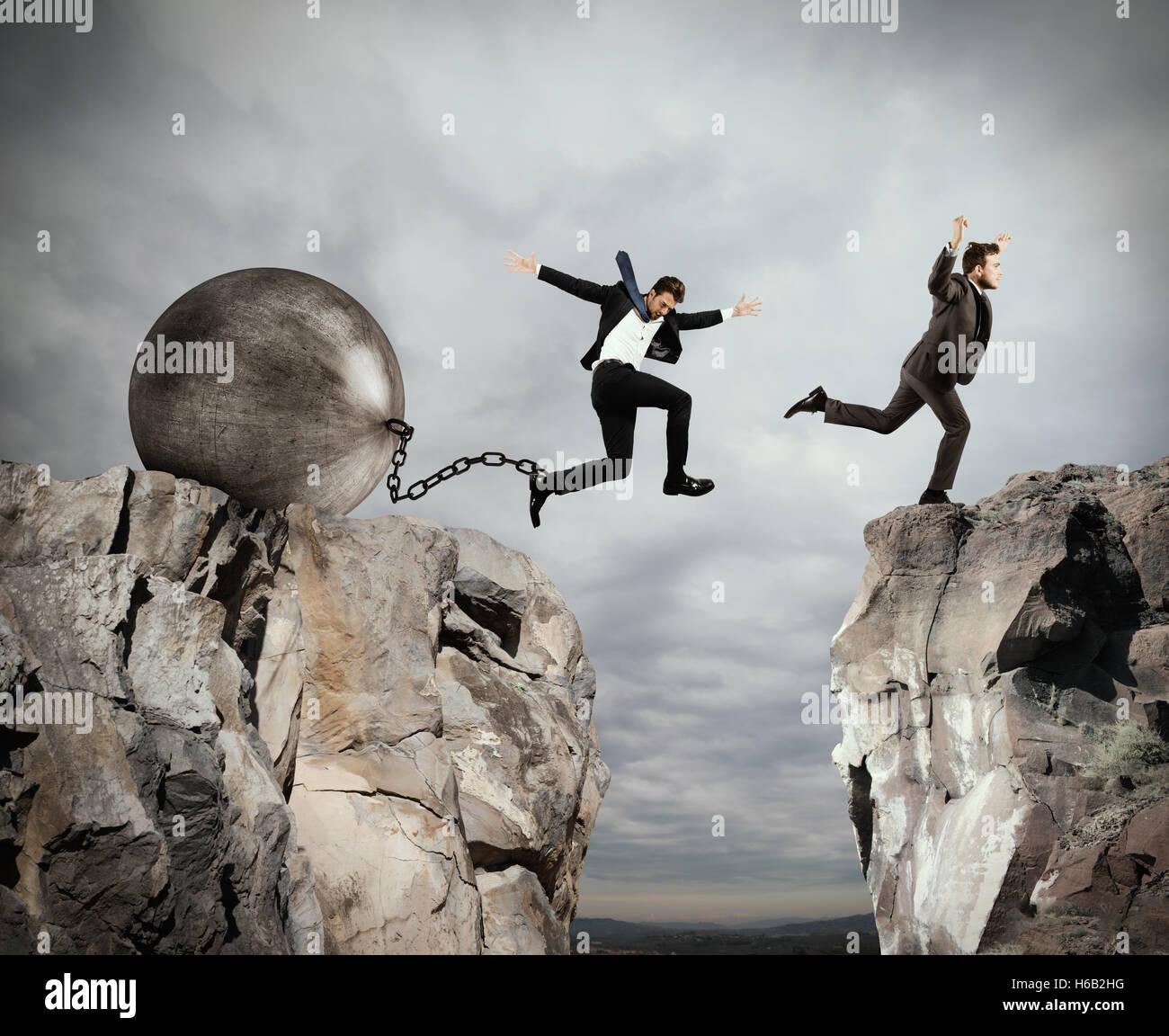 Ungerechtigkeit in Business-Wettbewerb Stockbild