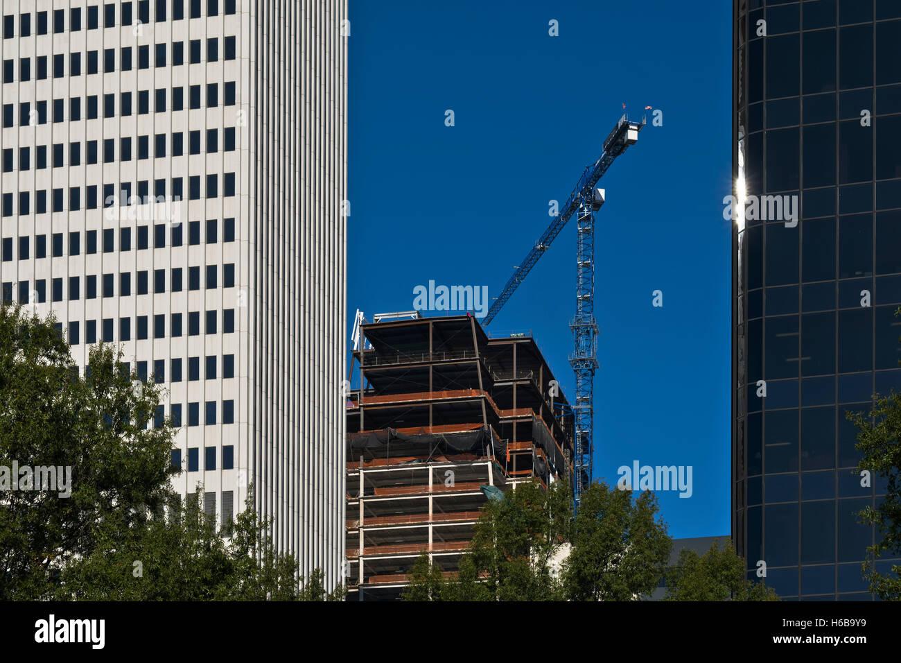 Architektur, Gebäude in der Stadt Charlotte, NC Stockbild