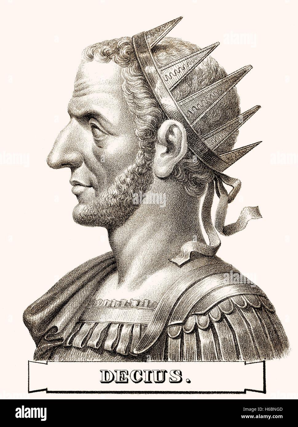 Trajan Decius, c. 201-251, römischer Kaiser Stockbild