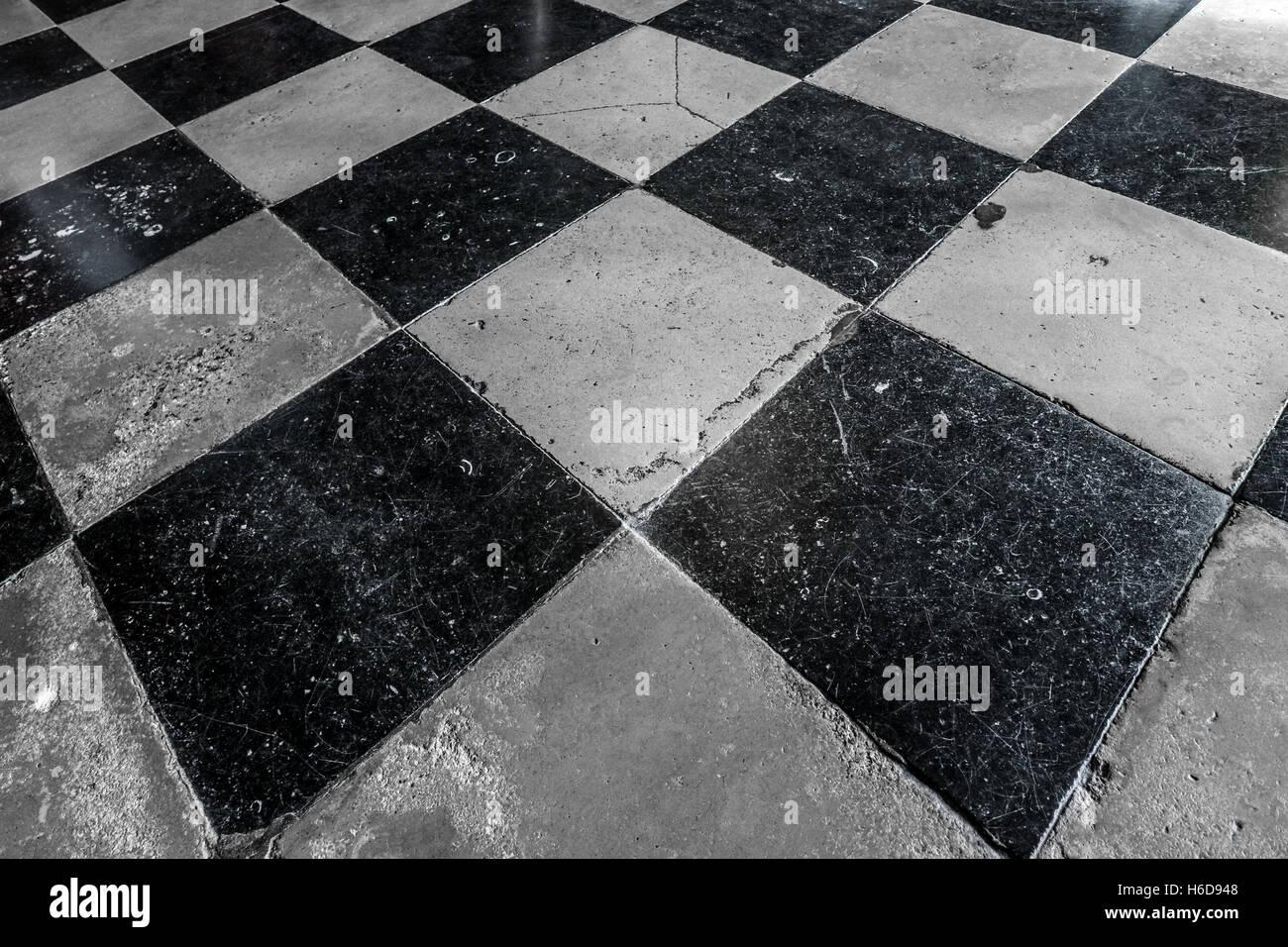 Fußboden Fliesen Schwarz Weiß ~ Schwarz weiß bodenfliesen stockfoto bild alamy