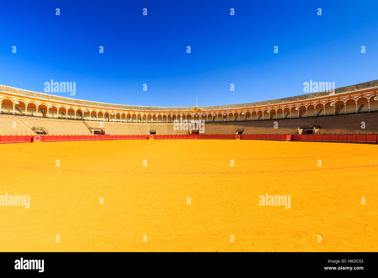 Sevilla, Spanien. Plaza de Toros (Stierkampfarena). Stockbild