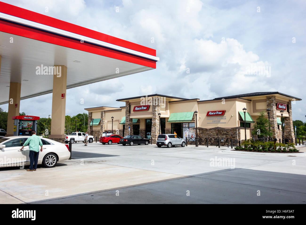 Port St. Lucie Florida Saint Race Trac Gas Tankstelle Benzin Convenience-store Stockbild