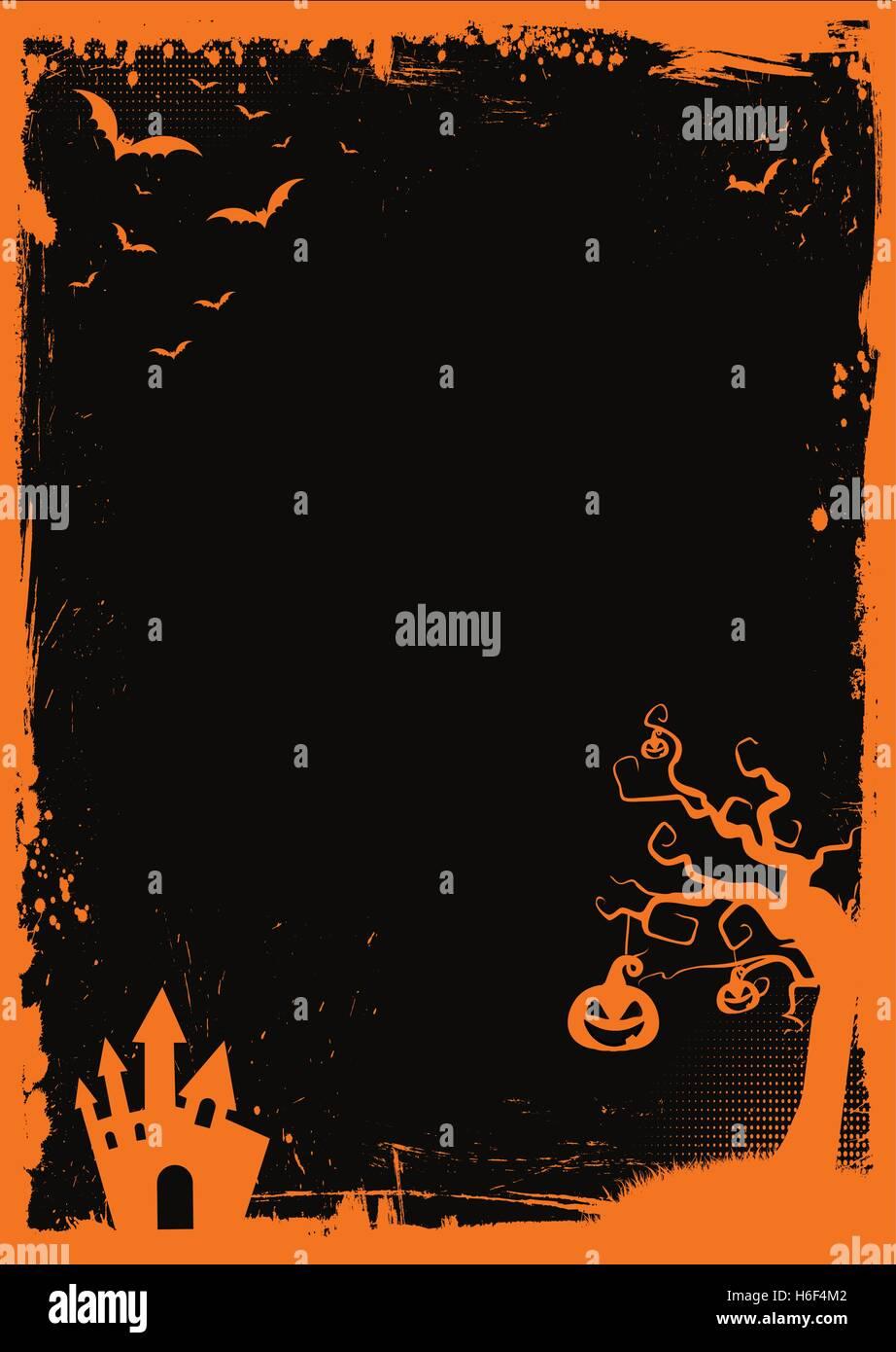 A3 internationale Größe Halloween Papierelement mit Rahmen und ...