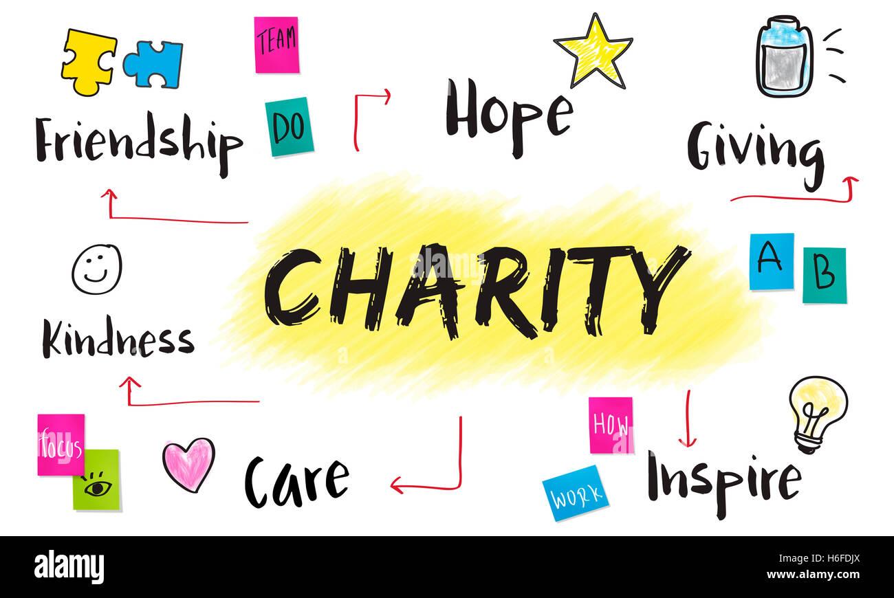 Liebe Community Anteil Hilfe-Konzept Stockbild