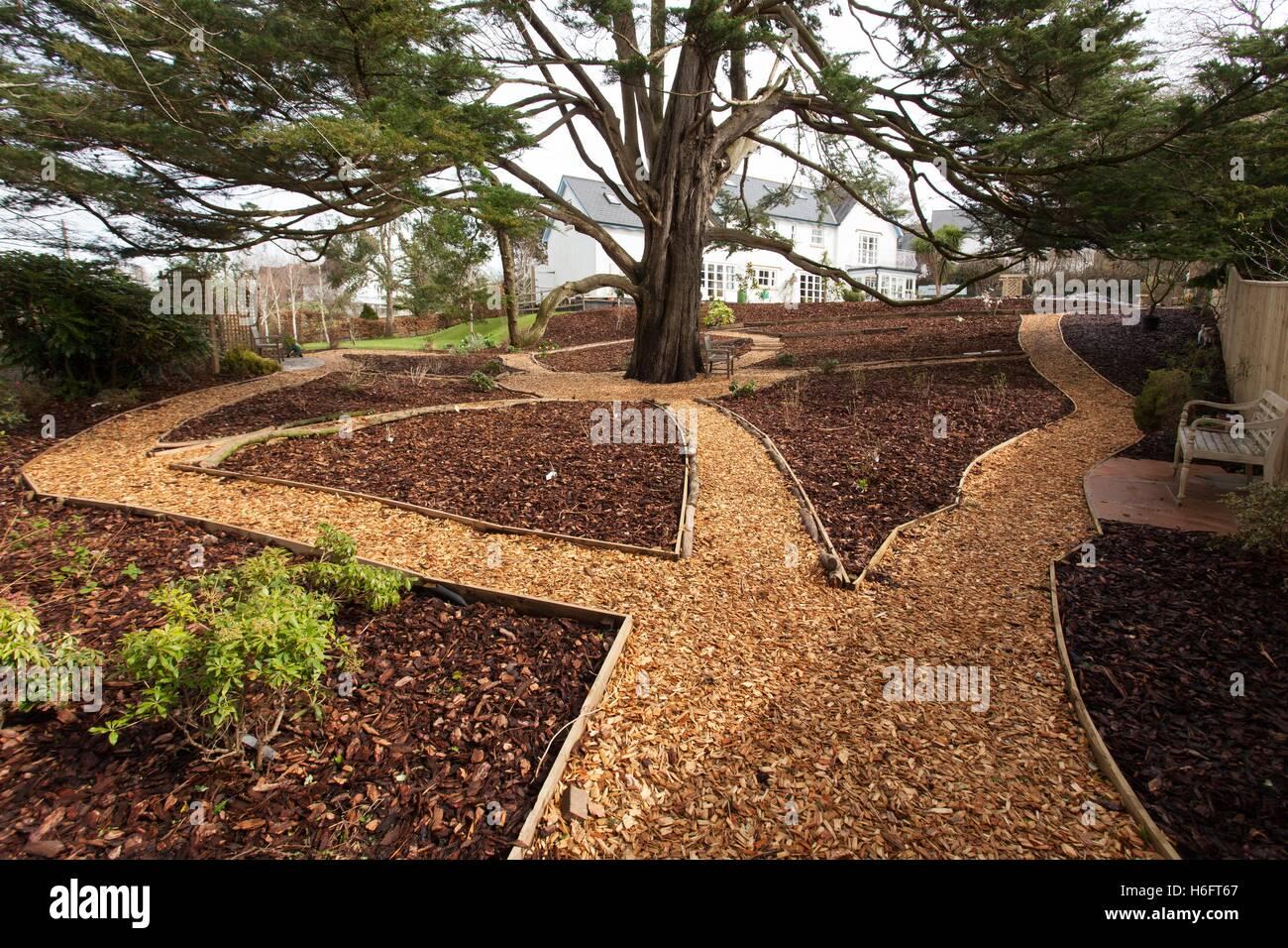 Super Holzschnitzel als Gartenwege, hölzernen Einfassung und Rinde #DQ_25