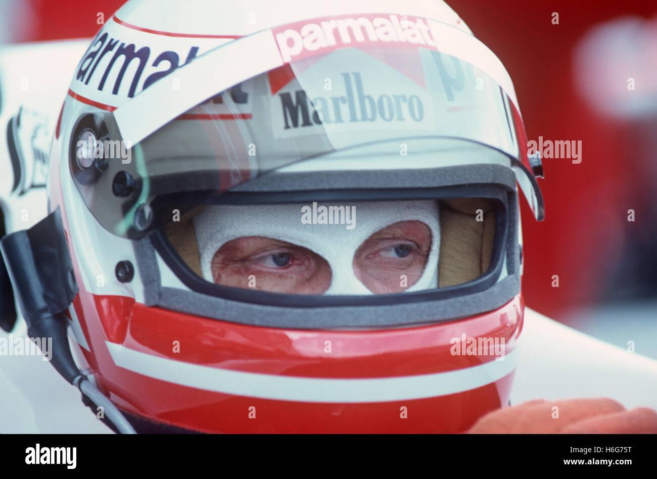 Niki Lauda der 1980er Jahre Stockbild