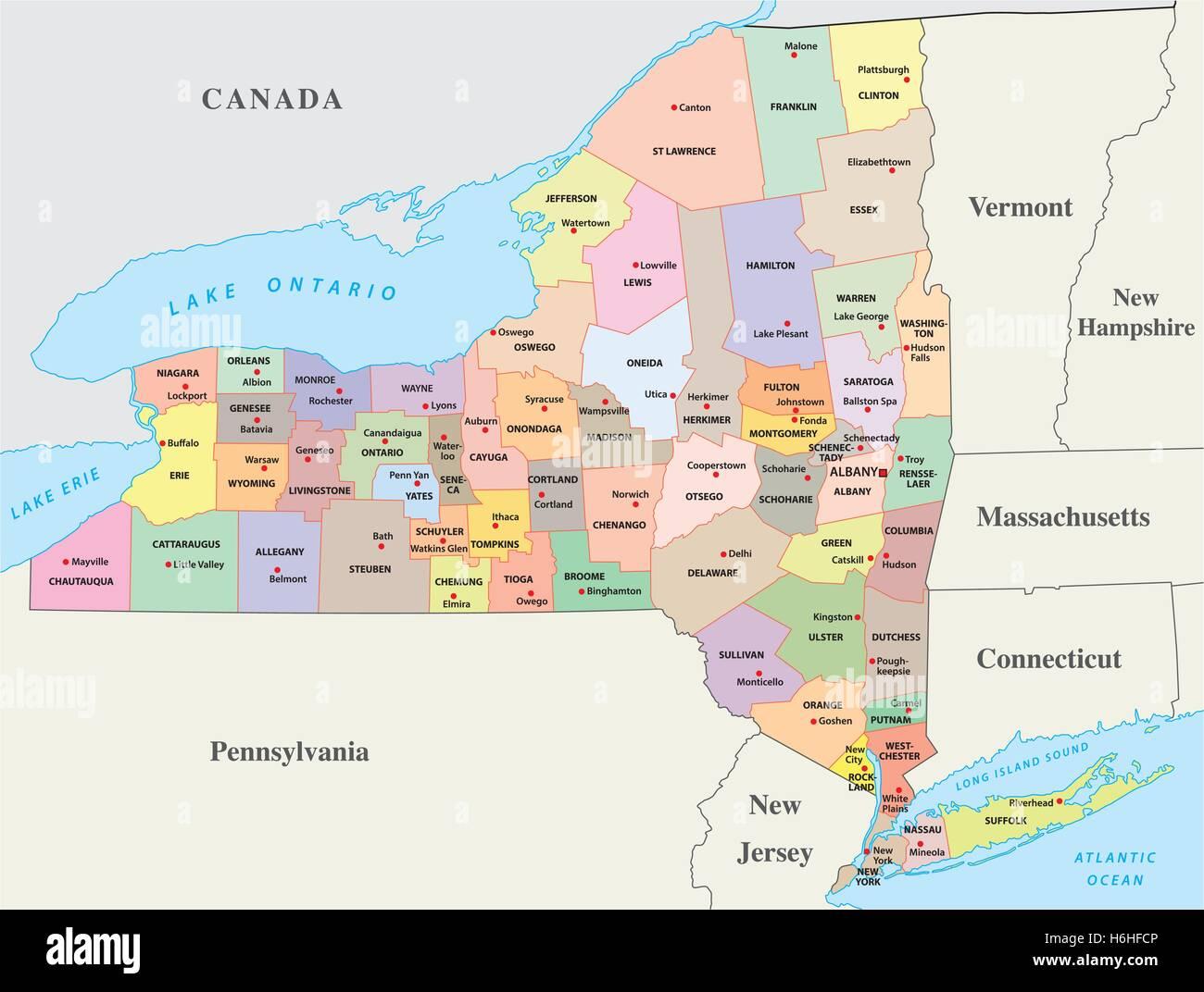 Vermont New Hampshire Map Stockfotos & Vermont New Hampshire ...