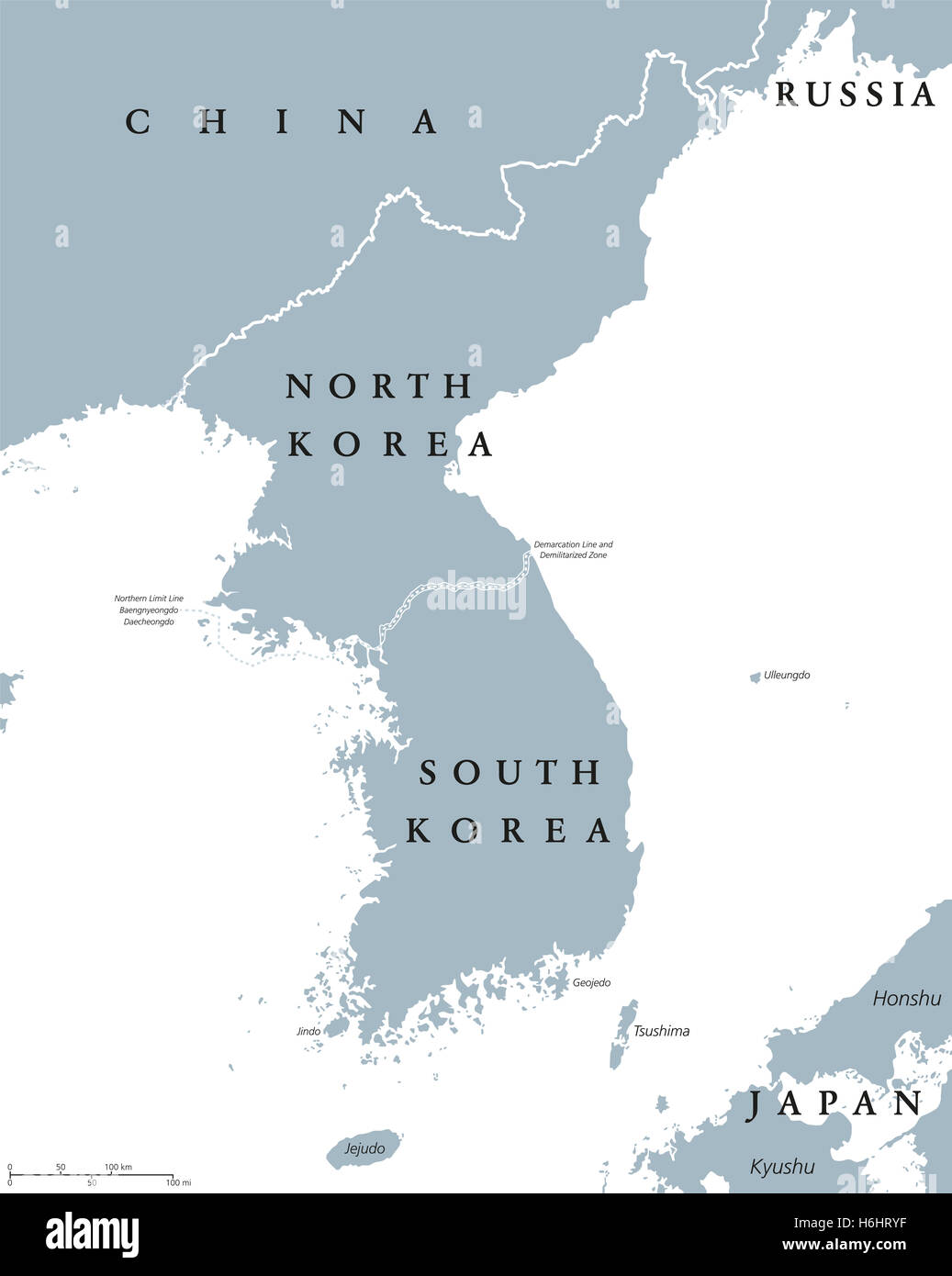 Grenze Nordkorea Südkorea Karte.Grey North Korea Map Stockfotos Grey North Korea Map Bilder Alamy