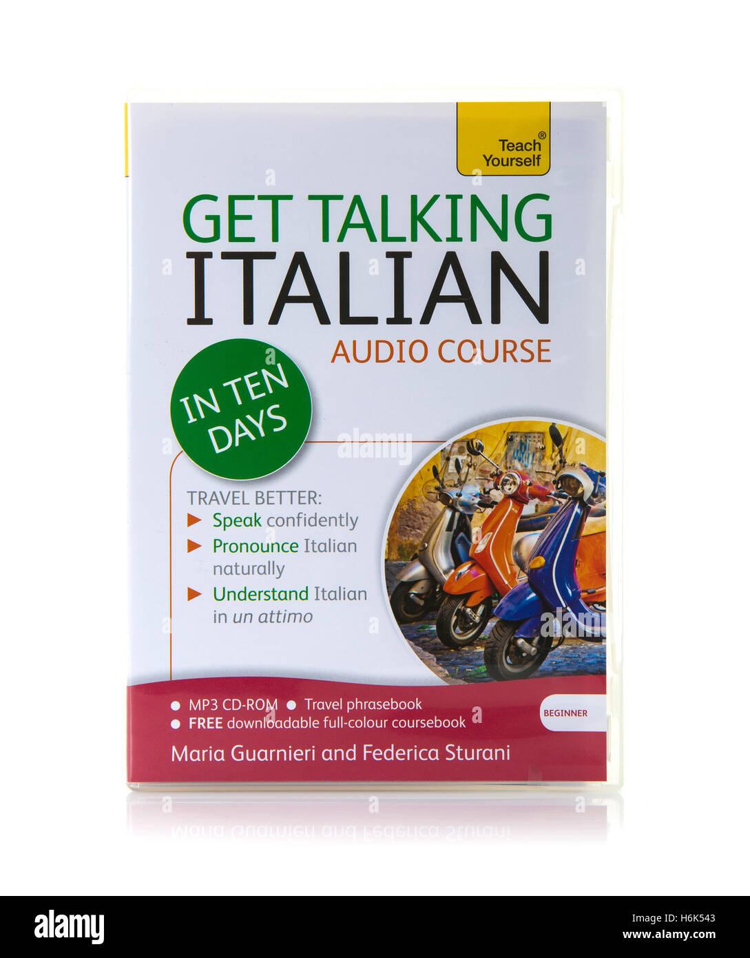 Teach Yourself Get sprechen Italienisch-Audio-Kurs auf CD und MP3 Stockbild