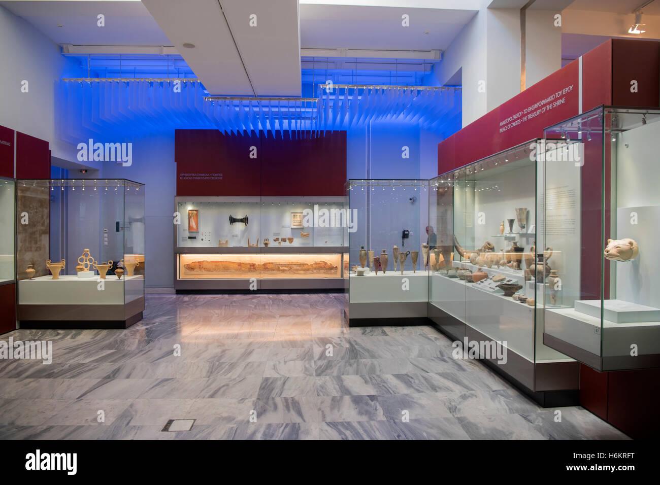 Griechenland, Kreta, Heraklion, Archäologisches Museum, veranstalten aus Dem Palast von Zakros, halbe Symbole Und Stockfoto
