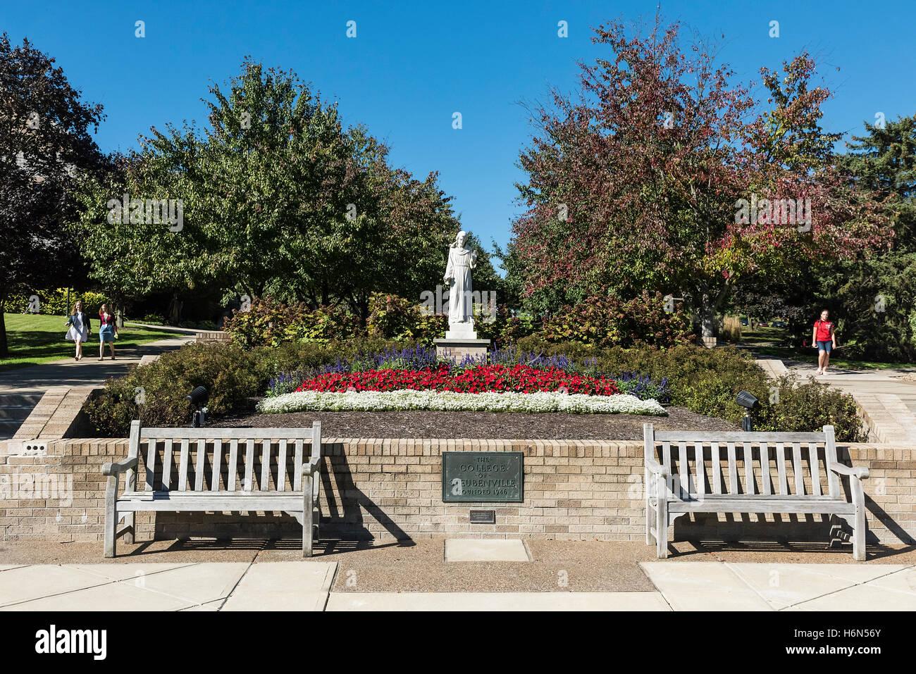 Campus der Franziskanischen Universität von Steubenville, Steubenville, Ohio, USA. Stockfoto