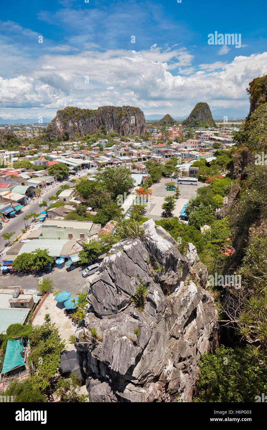 Ansicht der Marmor Berge. Da Nang, Vietnam. Stockbild