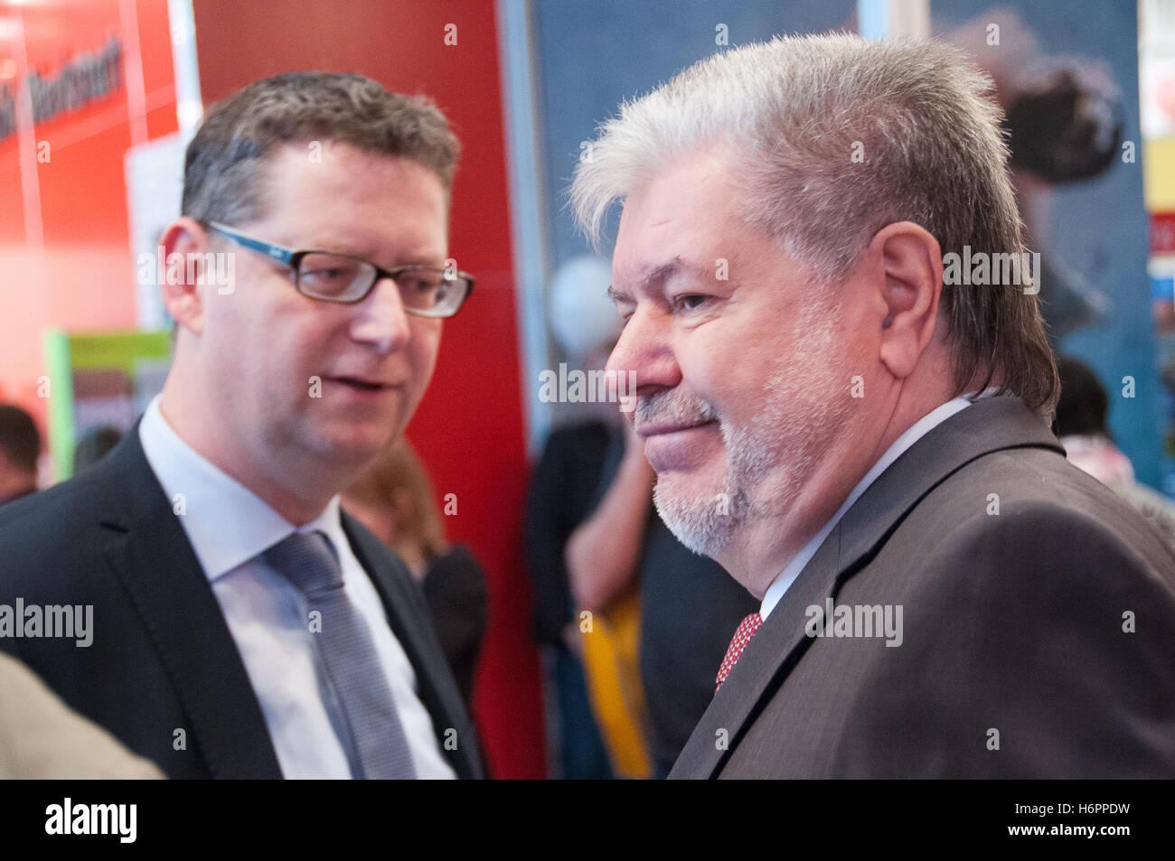 Thorsten Schäfer-gümbel, Kurt Beck, deutscher Politiker (SPD), der Frankfurter Buchmesse 2014 Stockbild